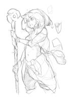 Witch Rough Sketch. by JimmyYin