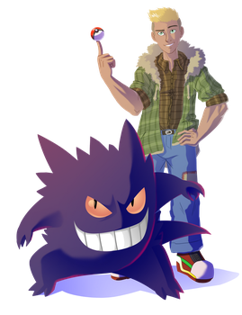 Commission - Gengar Trainer by pyrasterran