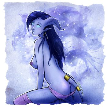 Underwear problem +Draenei commission+ by 77Shaya77