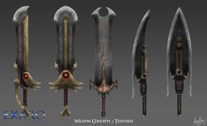 Sword Concepts / Textures by AaronQuinn