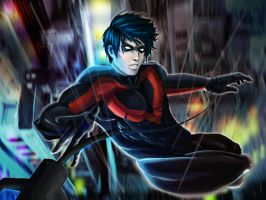 Fallen Nightwing-Alternate version by Doretetsu