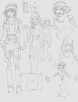 Bizzu Character sketches by candycanesmoke