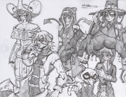 Soul Eater Random Character Collage Drawing by Hotfeet444