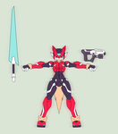 Megaman Zero - Orthographic Ver 2 by Garm-r