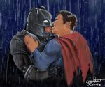 Batman VS Superman with a happy ending by skycladstrega