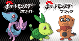 Pokemon Black White Starters by redjaypeg