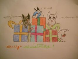 Christmas Gift for Wondermutt and Dixiewlf by SplitzBanana
