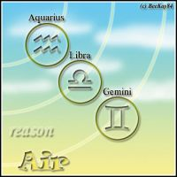 The 4 Zodiac Elements: Air by beekay84