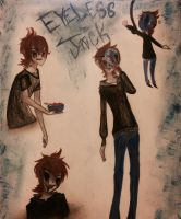 Eyeless Jack doodles by HellishProxy