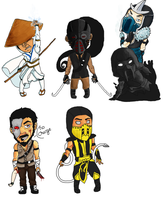 Mortal Kombat chibis by HarborJack
