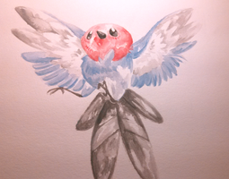 watercolor fletchling by Karry-Bird