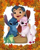 Autumn contest Lilo Stitch by cowgirlem