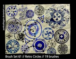 Brush Set 61 - Retro Circles by punksafetypin