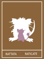 Pokemon Rattata - Raticate Minimalist Poster by Mr-Saxon