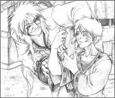 Happy Jiraiya n' Naruto by Chelsee