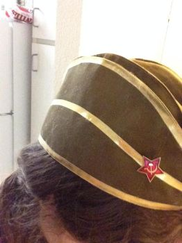 SMITE Red Star Athena Cosplay WIP - Hat Progress by Katixxia