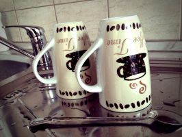 Coffee mugs by TigerCat-hu