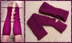Sparkly Knit Legwarmers by venea1391