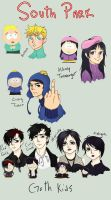 South Park Colored Sketchies by rosey-so-silly