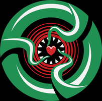 Cthulhu Heart 3 colour II by Rustyoldtown