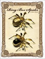 Art Deco Steampunk Ring Box Spider by CatherinetteRings
