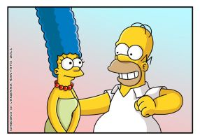 Homer and Marge Simpson by vanessasan