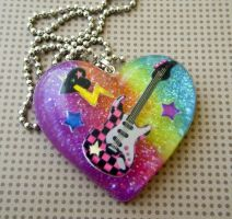 Glam Rock - Resin Necklace by elephont