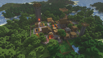 Minecraft village render by fuchi