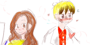 Scientist boy and Artist girl by magicow
