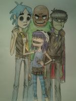 The Gorillaz Family by LuCkYrAiNdRoP