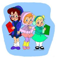 Christmas Chipettes Card Design by UltimatelyOptic