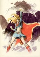 SUPERGIRL sketch by Cinar