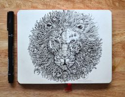 MOLESKINE DOODLES: The King's Awakening 2.0 by kerbyrosanes