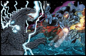 Godzilla 2014 vs Pacific Rim by fbwash