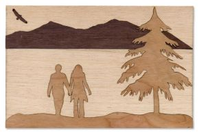 Laser Cut Wood Inlay by dizzyflower28