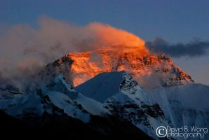 Sunset Everest by dwang026