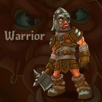 Warrior (char for RPG/Roguelike Dragon's Dungeon) by Vadich