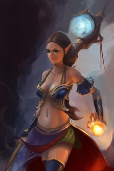 Elf Mage by c0ng