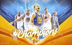 Golden State Warriors NBA Champions Wallpaper by skythlee
