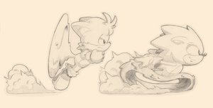 Sonic And Tails Concept Sketch 2 by Air-City