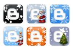 Blogger Xmas Logo Icons by tayzar44