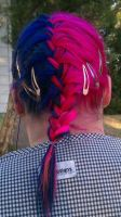 My blue and pink hair in 2011 by AlucardBlood1313