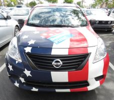 Patriotic Pizza Delivery Car by ShipperTrish