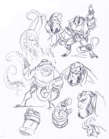Hellboy sketches by NachoMon
