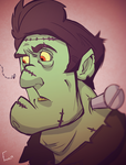 Frankenstein's Monster by nightowlartwork