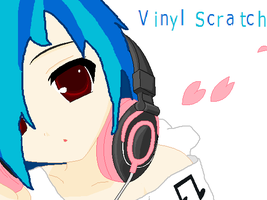 Vinyl Scratch Anime Human by Honey-PawStep