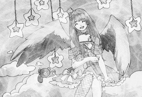 Illust-06: Dark, sweet angel by tshuki