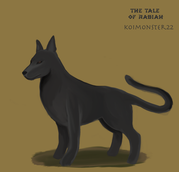 Panther Dog sketch- Avatar OC by TheTale-Of-Rabiah
