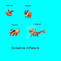 Eveeloutions of Flareon by NolerRobert