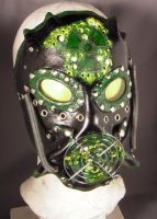 Leather mask - RadioActive - by IsilWorkshop